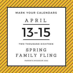 Spring Family Fling April 13–15 Schedule now posted